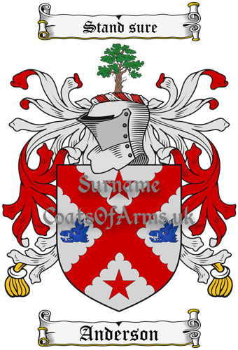 Anderson (Scotland) Coat of Arms (Family Crest) PNG Image Download