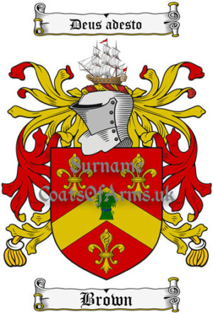 Brown (Scotland) Coat of Arms Family Crest PNG Instant Image Download