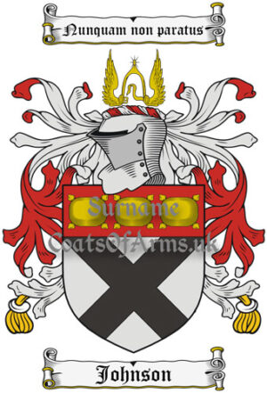 Johnson (Scotland) Coat of Arms Family Crest PNG Instant Image Download