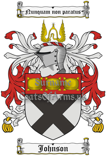 Johnson (Scotland) Coat of Arms (Family Crest) Instant Download
