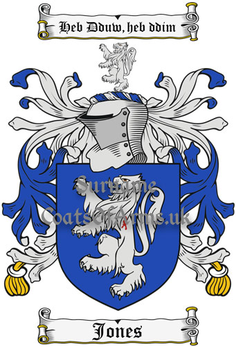 Jones (Wales) Coat of Arms Family Crest PNG Instant Image Download