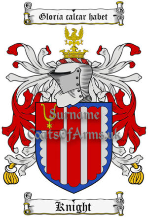 Knight (England) Coat of Arms Family Crest PNG Instant Image Download