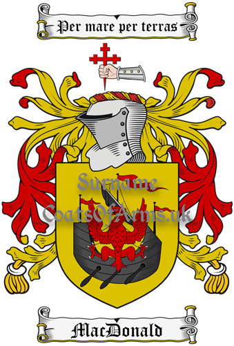 MacDonald (Scotland) Coat of Arms Family Crest PNG Instant Image Download
