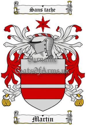 Martin (England) Coat of Arms Family Crest PNG Instant Image Download