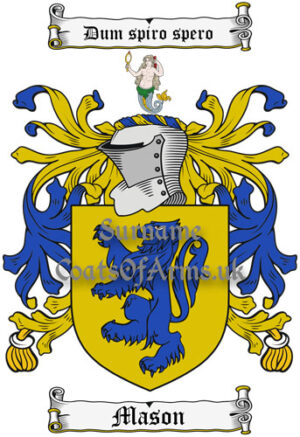Mason (England) Coat of Arms Family Crest PNG Instant Image Download