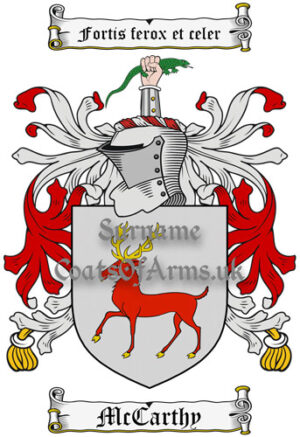 McCarthy (Ireland) Coat of Arms Family Crest PNG Instant Image Download