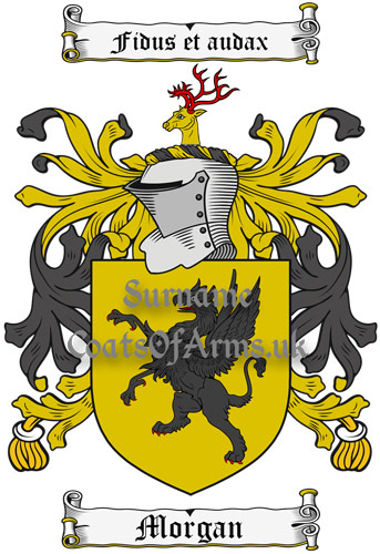 Morgan Coat of Arms Family Crest PNG Image Download