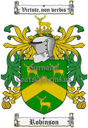 Robinson (England) Coat of Arms Family Crest PNG Instant Image Download