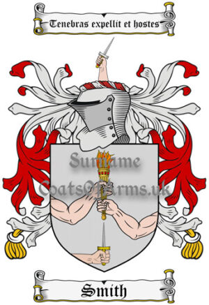 Smith (Ireland) Coat of Arms Family Crest PNG Instant Image Download