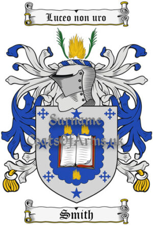 Smith (Scottish) Coat of Arms Family Crest PNG Instant Image Download
