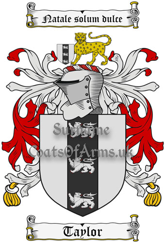 Taylor (England) Coat of Arms Family Crest PNG Image Download