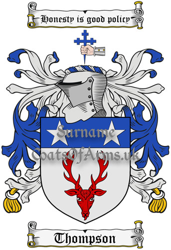 Thompson (Scotland) Coat of Arms Family Crest PNG Instant Image Download