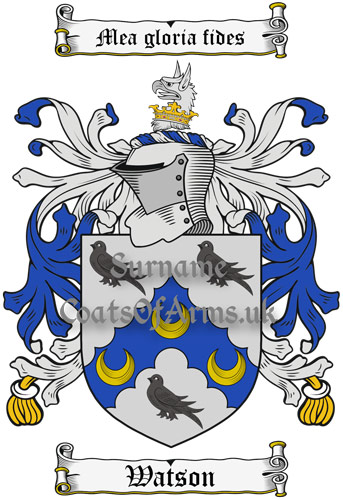 Watson (England) Coat of Arms Family Crest PNG Instant Image Download
