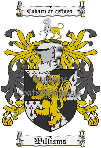 Williams (Wales) Coat of Arms Family Crest PNG Instant Image Download