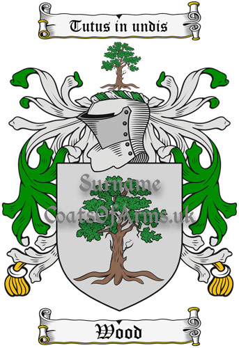 Wood (England) Coat of Arms Family Crest PNG Instant Image Download
