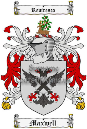 Maxwell (England) Coat of Arms Family Crest PNG Image Instant Download