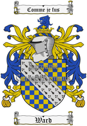 Ward (England) Coat of Arms Family Crest PNG Instant Image Download