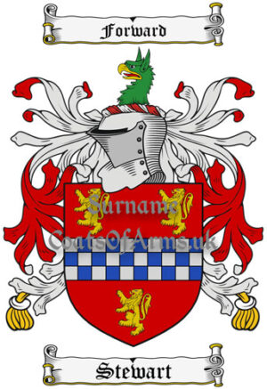 Stewart (Ireland) Coat of Arms Family Crest PNG Instant Image Download