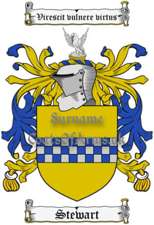 Steward (Scotland) Coat of Arms Family Crest PNG Instant Image Download