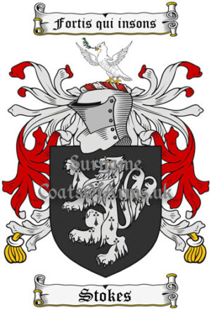 Stoker (England Wales) Coat of Arms Family Crest PNG Image Instant Download