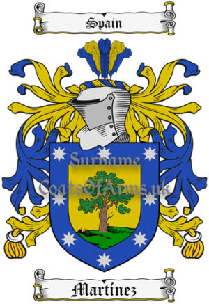 Martinez Family Crest Learn About The History Of This Surname And Heraldry From Our Database And Online Image Library