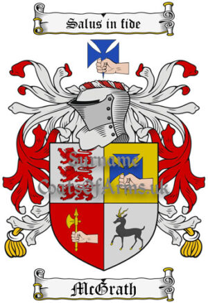 McGrath (Ireland) Coat of Arms Family Crest PNG Image Instant Download