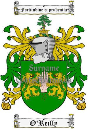 O'Reilly (Ireland) Coat of Arms Family Crest PNG Image Instant Download