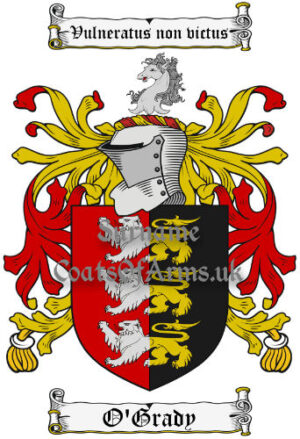 O'Grady (Ireland) Coat of Arms Family Crest PNG Image Instant Download