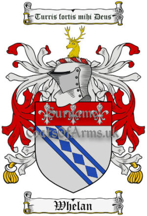 Whelan (Ireland) Coat of Arms Family Crest PNG Image Instant Download