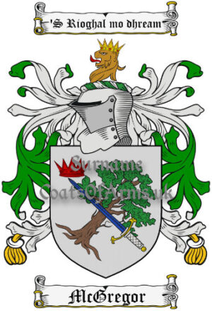 McGregor (Scotland) Coat of Arms Family Crest PNG Image Instant Download