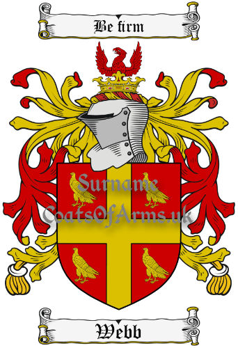Webb (England) Coat of Arms Family Crest PNG Image Instant Download