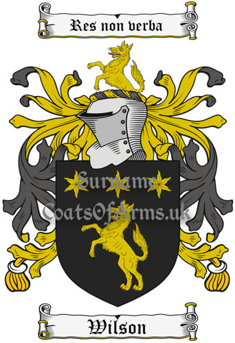 Wilson (England) Coat of Arms Family Crest PNG Image Instant Download