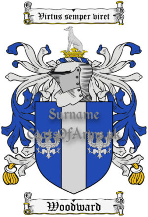 Woodward (Warwickshire, England) coat of arms family crest PNG image download