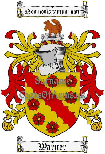 Warner (England) Coat of Arms Family Crest PNG Image Instant Download